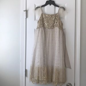 A monsoon gold dress for girls size 10
